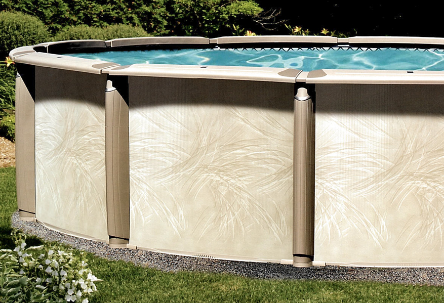 Azor resin frame above ground pool kits for Resin above ground swimming pools