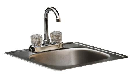 "Bull 15"" Stainless Steel Sink with Faucet"