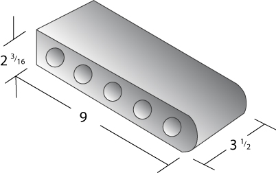 Bullnose Coping Brick Dimensions