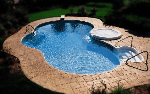 Featured Clearance Inground Deer Creek Pool with a Spillover Spa