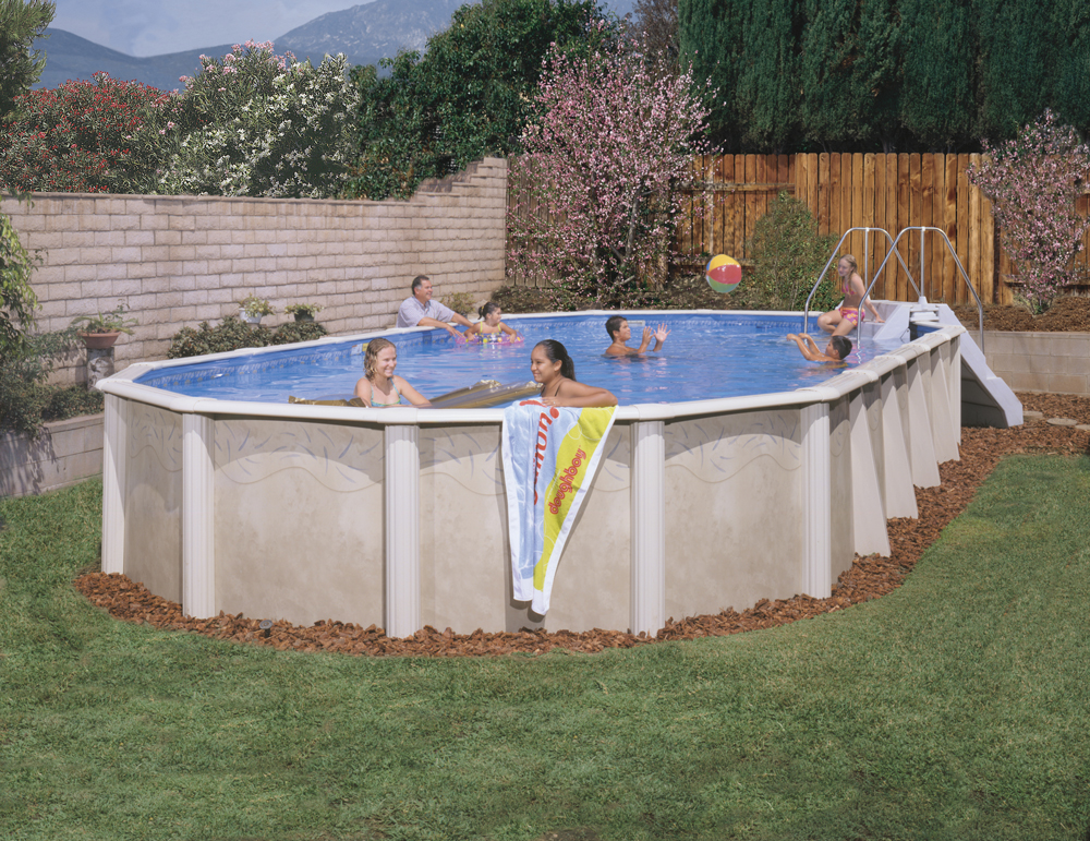 Doughboy desert spring above ground pool kits for Doughboy above ground swimming pools