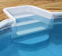 Lomart whispering wind ii semi inground pool for Walk in inground pool