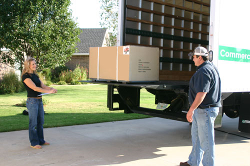 Liftgate Service is available to most locations and lowers your shipment to the ground