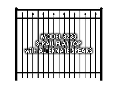 3233 3 Rail Flat Top with Alternate Spears