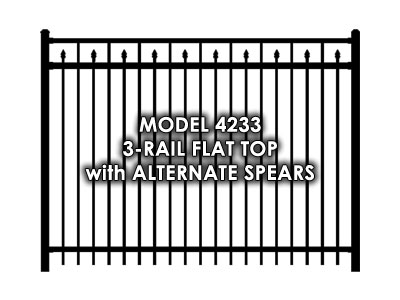 4233 3 Rail Flat Top with Alternate Spears