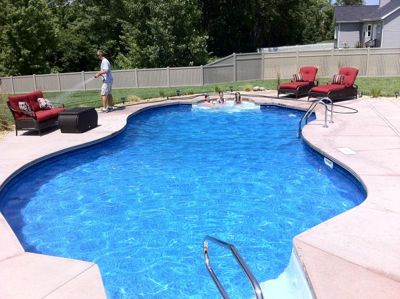 Oasis hydra inground swimming pool kit for Garden swimming pool kits
