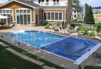 On-Deck Track Automatic Pool Covers