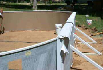 Above ground pool installation and construction information Above ground pool installation ideas