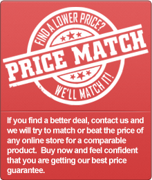 If you find a better deal, contact us and we will try to match or beat the price of any online store for a comparable product. Buy now and feel confident that you are getting our best price guarantee.