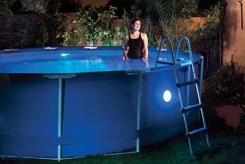 Remote control led pool wall light aloadofball Choice Image