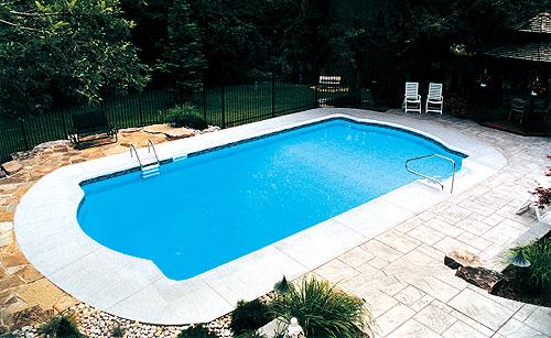 Roman inground swimming pool kits for Cheap inground pools