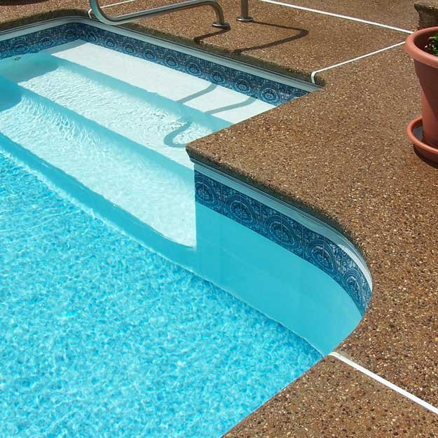 Pool coping options for Foam forms for concrete