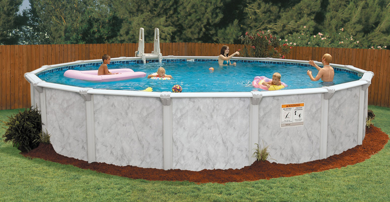 Embassy by doughboy above ground pools for Doughboy above ground swimming pools
