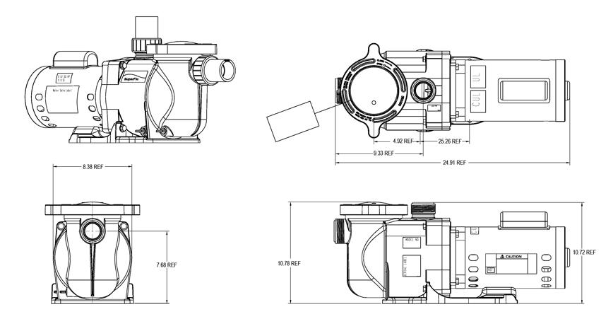 Pentair Superflo Inground Swimming Pool Pump