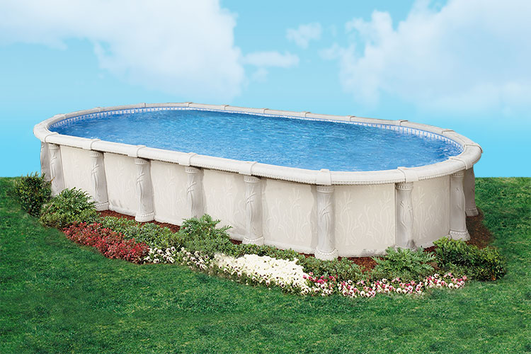 Doughboy tuscany above ground pool kits for Above ground swimming pool kits