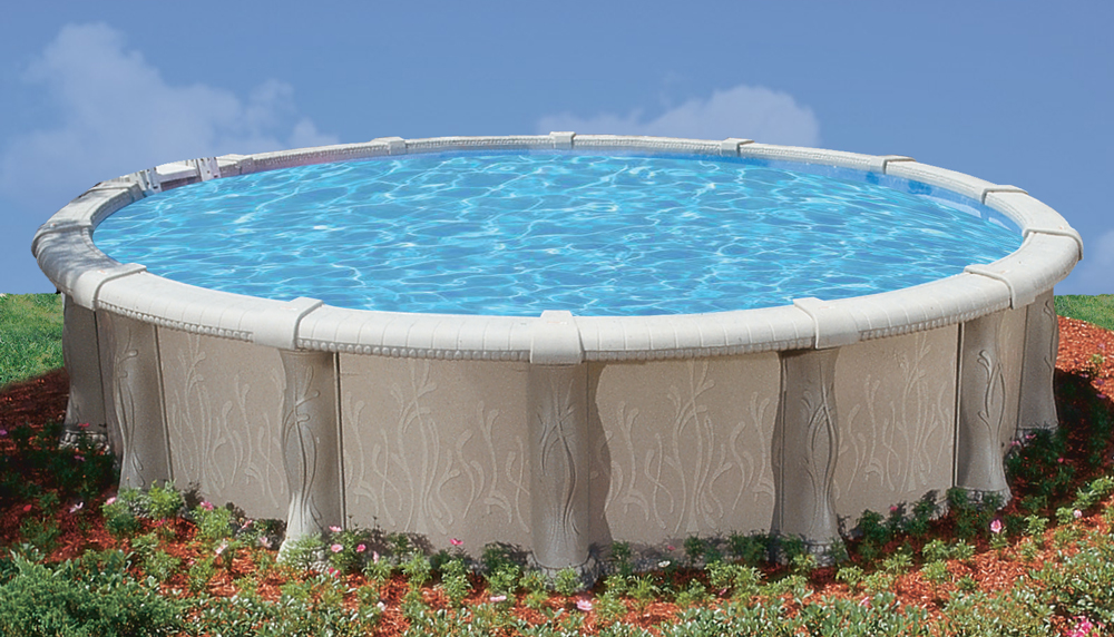 Doughboy above ground swimming pools for Resin above ground swimming pools